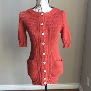 Marc by Marc Jacobs orange knit button up cardigan